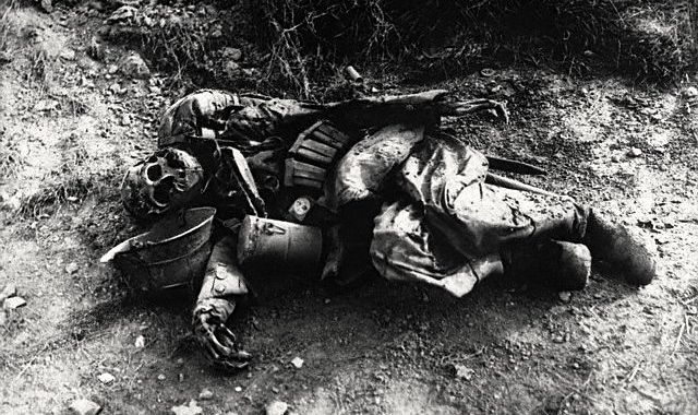 German soldier who died at the Battle of Marne, 1914.